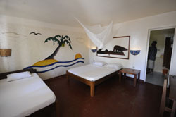 Simple budget accommodation in the village metres from the beach
