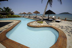 Enjoy the beach swimming pool at Corail Noir Madagascar