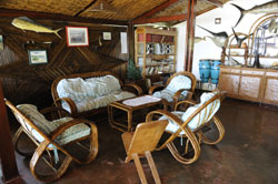 Relax after a days fishing by the bar at sakatia passions island lodge Madagascar